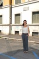 foto/IPP/Gioia Botteghi 07/08/2011 Roma, Primo Ciak della fiction IL DELITTO DI VIA POMA, canale 5, nella foto: ASTRID MELONI,  nella parte di Simonetta , sotto le finestre dell'ufficio dove è stato commesso il delitto