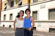 foto/IPP/Gioia Botteghi 07/08/2011 Roma, Primo Ciak della fiction IL DELITTO DI VIA POMA, canale 5, nella foto: Giulia Bevilacqua e Astrid Meloni