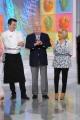 foto/IPP/Gioia Botteghi 12/09/2011 Roma, prima puntata de LA PROVA DEL CUOCO/ LA LOTTERIA, nella foto  Claudio Lippi con Anna Moroni e il cuoco Cristian Bertol