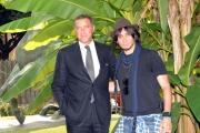 Foto/IPP/Gioia Botteghi Roma 27/09/2011 presentazione del programma di raidue SBARRE, nella foto Fabrizio Moro conduttore e Luca Barbareschi