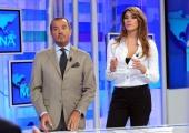 foto/IPP/Gioia Botteghi 12/10/2011 Roma, Uno mattina , i nuovi conduttori , nella foto Franco Di Mare ed Elisa Isoardi