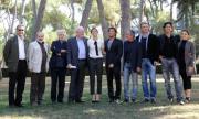 foto/IPP/Gioia Botteghi 14/10/2011 Roma, Presentazione della fiction VIOLETTA, nella foto: il cast con il regista al centro Antonio Frazzi