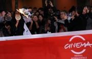 Foto/IPP/Gioia Botteghi Roma 27/10/2011 festival del cinema di Roma,red carpet,Gabriele Paolini brucia la foto di Berlusconi