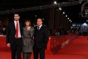 Foto/IPP/Gioia Botteghi Roma 31/10/2011 festival del cinema di Roma, red carpet,11 metri, nella foto: la moglie del giocatore Di Bartolomei e i due figli Luca e GianMarco