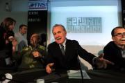 foto/IPP/Gioia Botteghi 31/10/2011 Roma, Presentazione della nuova trasmissione di Michele Santoro SERVIZIO PUBBLICO, nella foto con Vauro Senesi,Sandro Ruotolo