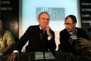 foto/IPP/Gioia Botteghi 31/10/2011 Roma, Presentazione della nuova trasmissione di Michele Santoro SERVIZIO PUBBLICO, nella foto con Sandro Ruotolo