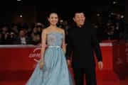 Foto/IPP/Gioia Botteghi 02/11/2011 festival del cinema di Roma, red carpet Love for life, nella foto: Zhang Ziyi con il regista Gu