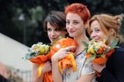 foto/IPP/Gioia Botteghi 05/11/2011 Roma, Presentazione della fiction TUTTI PAZZI PER AMORE 3, nella foto: Carlotta Natoli, Irene Ferri e Francesca Inaudi