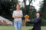 foto/IPP/Gioia Botteghi 05/11/2011 Roma, Presentazione della fiction TUTTI PAZZI PER AMORE 3, nella foto: Francesca Inaudi con Corrado Fortuna