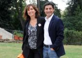 foto/IPP/Gioia Botteghi 05/11/2011 Roma, Presentazione della fiction TUTTI PAZZI PER AMORE 3, nella foto: Emilio Solfrizzi con la regista Laura Muscardin