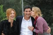 foto/IPP/Gioia Botteghi 05/11/2011 Roma, Presentazione della fiction TUTTI PAZZI PER AMORE 3, nella foto:  Antonia Liskova, Emilio Solfrizzi e Carlotta Natoli