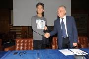 foto/IPP/Gioia Botteghi 08/11/2011 Roma, Presentazione del programma di raiuno, ILPIUGRANDESPETTACOLODOPOILWEEKEND, NELLA FOTO ROSARIO FIORELLO con il direttore di raiuno Mauro Mazza