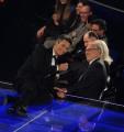 foto/IPP/Gioia Botteghi 14/11/2011 Roma, Prima puntata del programma di raiuno, ILPIUGRANDESPETTACOLODOPOILWEEKEND, NELLA FOTO ROSARIO FIORELLO con il direttore di raiuno Mauro Mazza