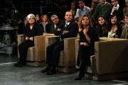 foto/IPP/Gioia Botteghi 12/11/2011 Roma, puntata speciale di Ballarò raitre, nella foto Rosy Bindi, Di Pietro e concita de Gregori