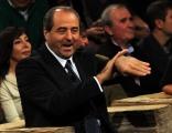 foto/IPP/Gioia Botteghi 12/11/2011 Roma, puntata speciale di Ballarò raitre, nella foto Di Pietro che grida Berlusconi a casa