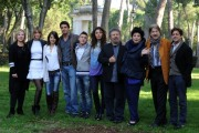 foto/IPP/Gioia Botteghi 14/11/2011 Roma, Presentazione della serie tv Baciati dall'amore, nella foto Gaia Bermani Amaral con Giampaolo Morelli ed il cast dei protagonisti