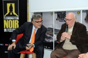 foto/IPP/Gioia Botteghi 23/11/2011 Roma, Giancarlo De Cataldo consegna allo scrittore Andrea Camilleri il Raymond Chandler Award 2011