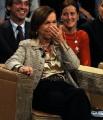 foto/IPP/Gioia Botteghi 06/12/2011 Roma, Puntata di Ballarò con il ministro Elsa Fornero, piange a Ballarò ma per le risate alle battute di Maurizio Crozza