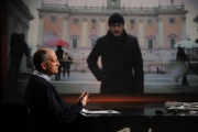 Foto/IPP/Gioia Botteghi 5/02/2012 Lucia Annunziata intervista Franco Gabrielli