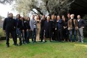 foto/IPP/Gioia Botteghi 8/02/2012 Roma,  Presentazione della fiction di raiuno IL GENERALE DEI BRIGANTI, nella foto: il cast con in centro il regista Paolo Poeti