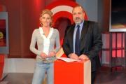 foto/IPP/Gioia Botteghi 16/02/2012 Roma,   Marcello Masi nuovo direttore della Tg2 e la giornalista Maria Concetta Mattei