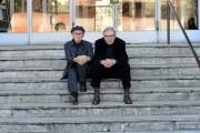 foto/IPP/Gioia Botteghi 29/02/2012 Roma,  presentazione del film Cesare deve morire, premiato a Berlino, nella foto i fratelli Taviani