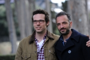 foto/IPP/Gioia Botteghi 12/03/2012 Roma,  presentazione della trasmissione 1_2_3_stella per la7 nella foto: Riccardo De Filippis e Francesco Montanaro