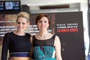 foto/IPP/Gioia Botteghi   26/03/2012 Roma,  presentazione del film ROMANZO DI UNA STRAGE, nella foto: Laura Chiatti e Michela Cescon