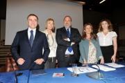 foto/IPP/Gioia Botteghi 28/3/2012 Roma presentazione di TG 2 INSIEME, nella foto: Rocco Tolfa, Maria Concetta Mattei, Marcello Masi, Ida Colucci, Emanuela Moreno.