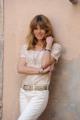 foto/IPP/Gioia Botteghi   02/04/2012 Roma,  presentazione della fiction di mediaset LE TRE ROSE, nella foto:  Elisabetta Pellini