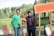 foto: Gioia Botteghi/IPP Roma, 18 aprile 2012. presentazione del film American Pie, nella foto: Mena Suvari, Jason Biggs e Chris Klein