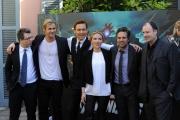 foto: Gioia Botteghi/IPP Roma, 21 aprile 2012. presentazione del film Avengers, nella foto:Scarlett Johansson, Chris Hemsworth, Mark Ruffalo,Tom Hiddleston e il regista Joss Whedon a destra a sx produttore sconosciuto