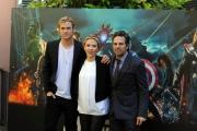 foto: Gioia Botteghi/IPP Roma, 21 aprile 2012. presentazione del film Avengers, nella foto: Scarlett Johansson, Chris Hemsworth, Mark Ruffalo
