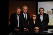 Foto/IPP/Gioia Botteghi   29/04/2012 Roma trasmissione in mezz'ora ospite di Lucia Annunziata Michele Santoro, con lui Di Bella direttore di rai3 e Carlo Freccero