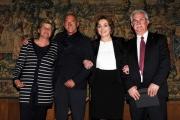 foto: Gioia Botteghi/IPP Roma, 27 aprile 2012. presentazione del concerto del primo maggio a Roma, nella foto:  Camusso, Angeletti, Lei, Bonanni