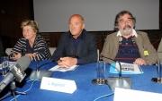 foto: Gioia Botteghi/IPP Roma, 27 aprile 2012. presentazione del concerto del primo maggio a Roma, nella foto: da sx Marco Godano l'organizzatore, Camusso, Angeletti