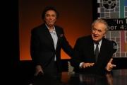 Foto/IPP/Gioia Botteghi   29/04/2012 Roma trasmissione in mezz'ora ospite di Lucia Annunziata Michele Santoro, con lui Carlo Freccero