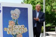"""foto: Gioia Botteghi/IPP Roma, 26a prile 2012. presentazione del programma di raiuno MI GIOCO LA NONNA""""  Giancarlo Magalli"""
