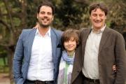 foto/IPP/Gioia Botteghi   05/04/2012 Roma,  presentazione della fiction di mediaset Benvenuti a tavola, nella foto: Marco D'Amore, Achille Sabatino, Giorgio Tirabassi