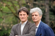 foto/IPP/Gioia Botteghi   05/04/2012 Roma,  presentazione della fiction di mediaset Benvenuti a tavola, nella foto: Fabrizio Bentivoglio, Giorgio Tirabassi