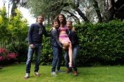 foto: Gioia Botteghi/IPP Roma, 7 maggio 2012. programma di raidue Italia COAST2COAST, nella foto: il trio Medusa e Laura Barriales