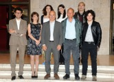 foto:IPP/Gioia Botteghi Roma 21/05/2012 Presentazione della fiction I 57 GIORNI, nella foto: il cast con il regista Alberto Negrin