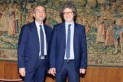 foto:IPP/Gioia Botteghi Roma 04/06/2012 conferenza stampa di Rai sport per gli europei, nella foto Riccardo Cucchi e Antonio Preziosi