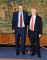foto:IPP/Gioia Botteghi Roma 04/06/2012 conferenza stampa di Rai sport per gli europei, nella foto il Presidente della rai Paolo Garimberti e Giancarlo Abete