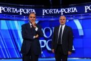 foto:IPP/Gioia Botteghi 5/09/2012  Roma presentazione della nuova edizione di Porta a Porta, nella foto: Bruno Vespa con il direttore di raiuno Mauro Mazza
