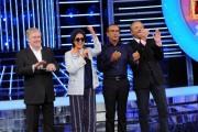 foto:IPP/Gioia Botteghi 21/09/2012  Roma trasmissione rai Tali e Quali Show, nella foto Carlo Conti con la giuria , Claudio Lippi, Loretta Goggi, Christian De Sica