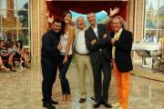 foto:IPP/Gioia Botteghi 29/09/2012  Roma prima puntata di Mazzogiorno in Famiglia, nella foto : Amedeus, Laura Barriales, Sergio Friscia, il maestro Mazza con il regista Michele Gurdì