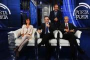 foto:IPP/Gioia Botteghi 10/10/2012  Roma trasmissione porta a porta, nella foto: Renata Polverini, Enrico Rossi, Giovanni Chiodi, con Vespa