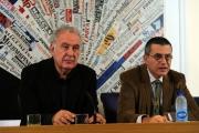 foto:IPP/Gioia Botteghi 22/10/2012  Roma presentazione del nuovo programma di Santoro Servizio Pubblico su la7, nella foto: Michele Santoro,  Paolo Ruffini