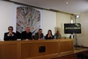 foto:IPP/Gioia Botteghi 22/10/2012  Roma presentazione del nuovo programma di Santoro Servizio Pubblico su la7, nella foto: Michele Santoro, Sandro Ruotolo , Paolo Ruffini , Giulia Innocenzi, Vauro